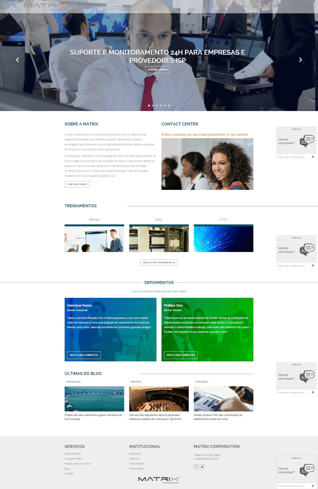 Website Matrix