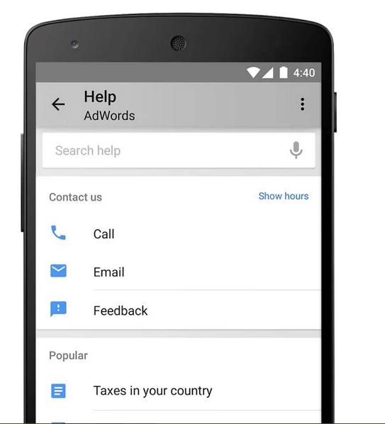 Ligar para o google adwords