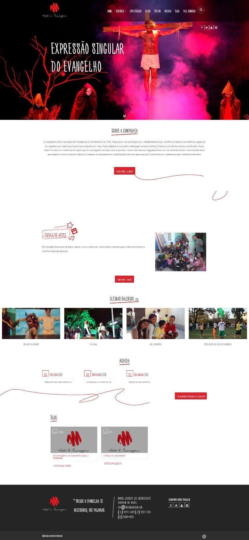 Cia Arte e Mensagem - website