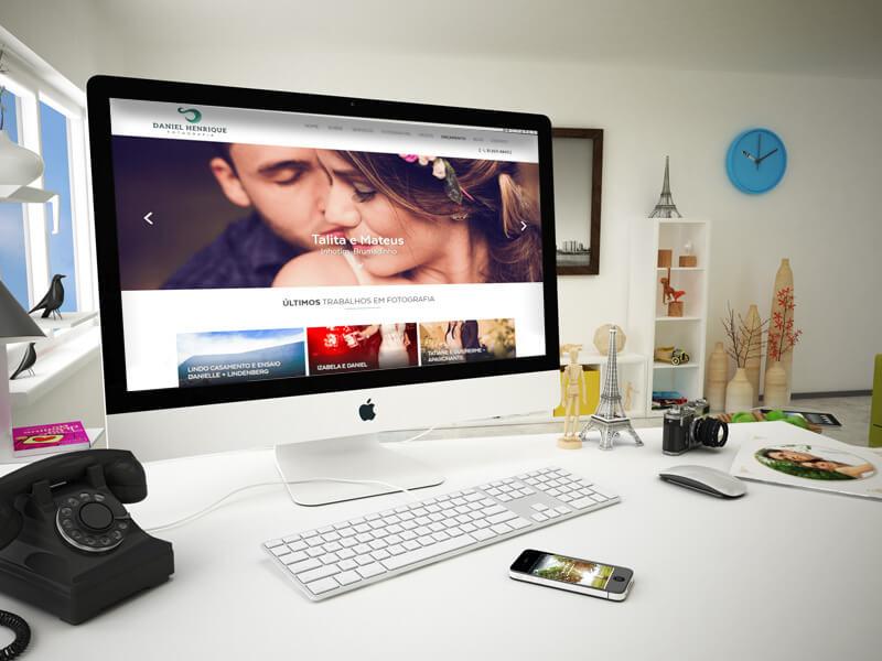 Website Daniel Henrique Fotografia - Marketing Digital e Inbound Marketing em BH