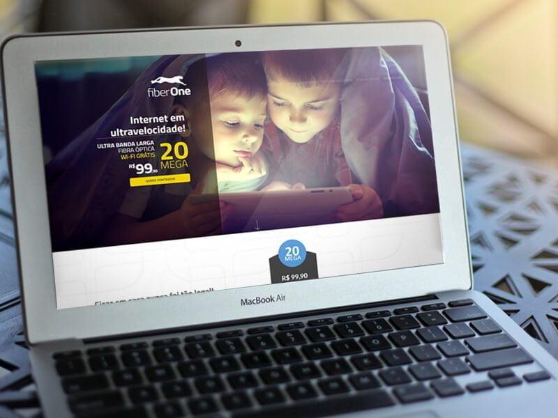 Criação de site para provedor - Fiber One - Marketing Digital e Inbound Marketing em BH