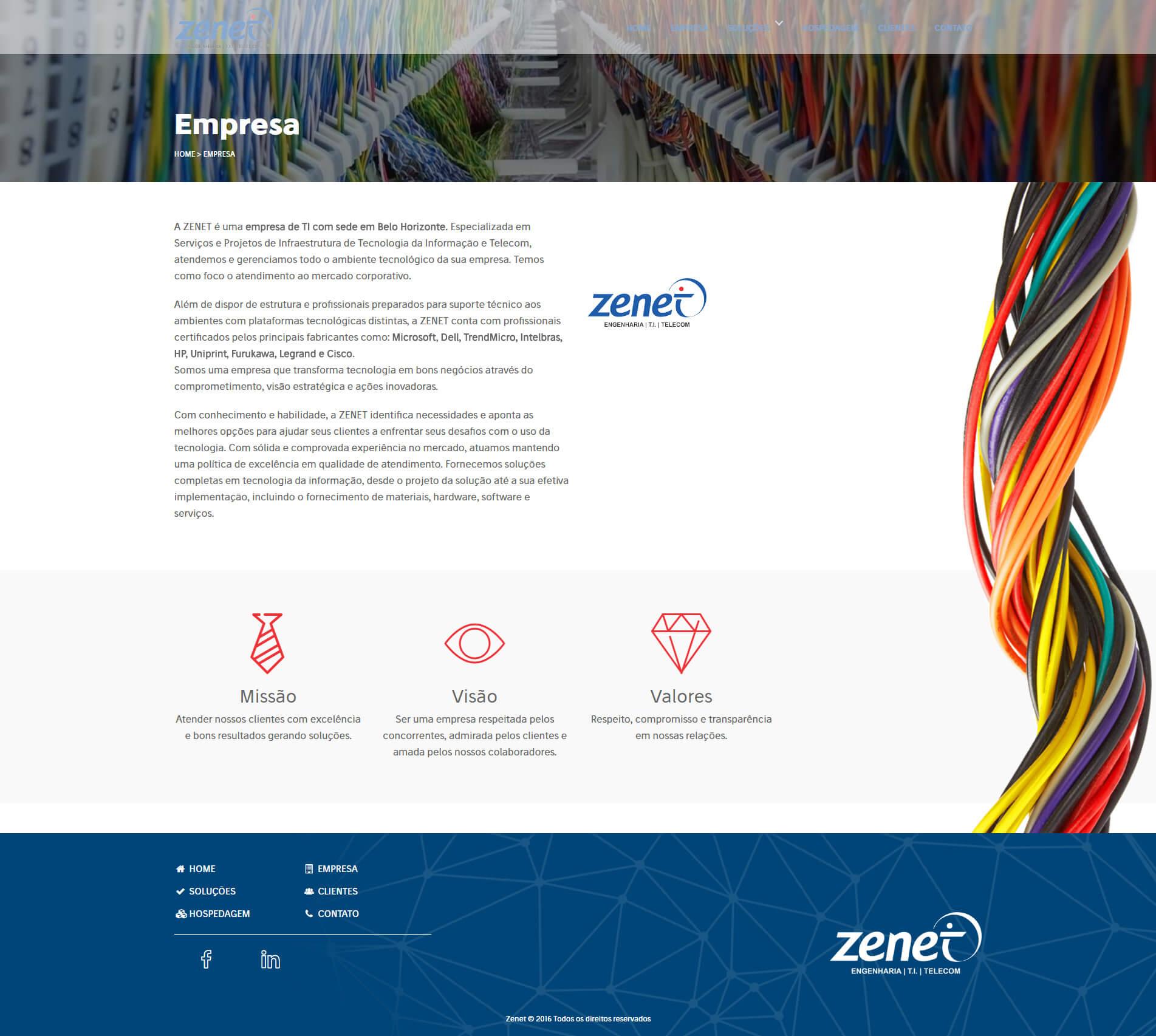 Página Empresa Zenet