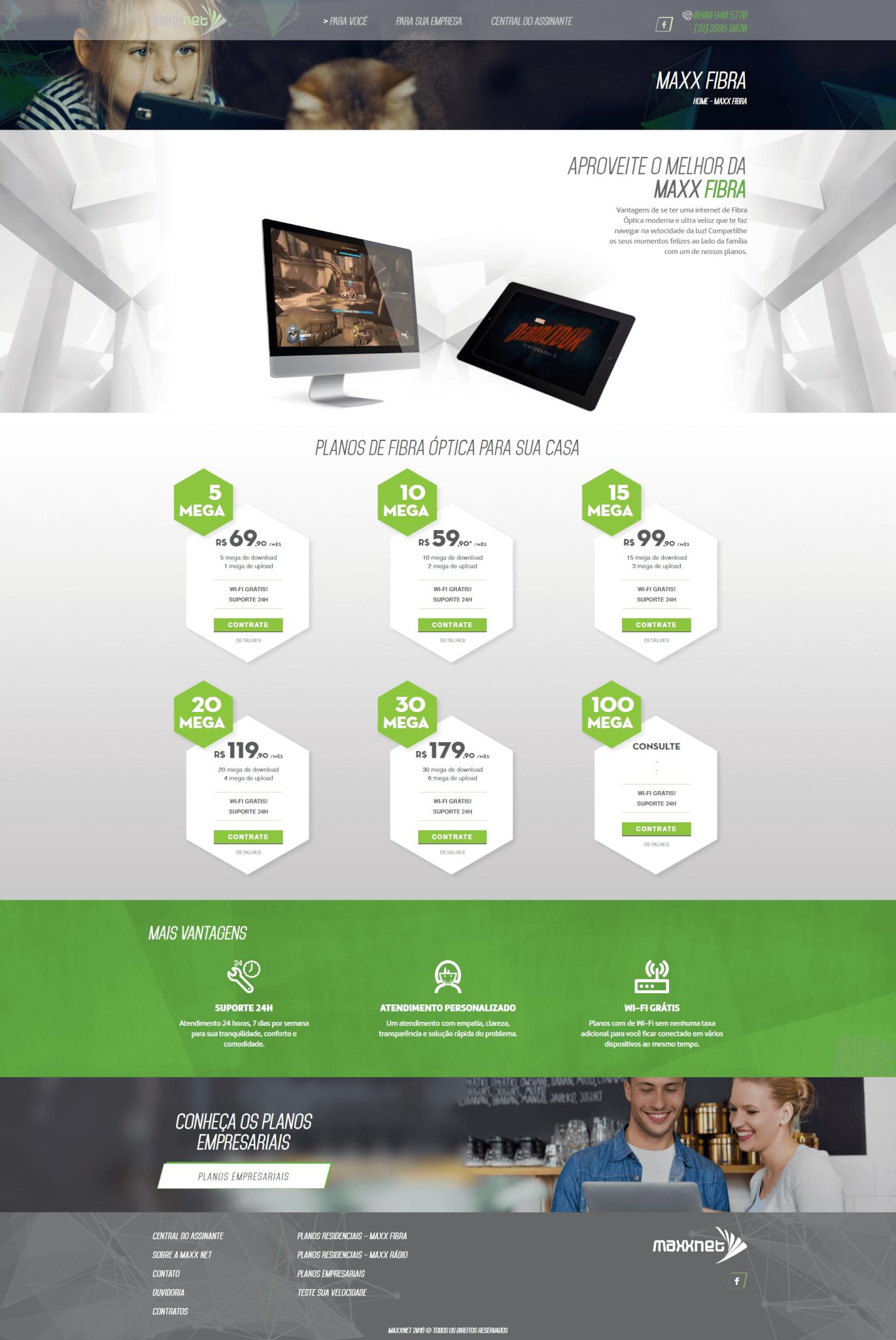 Página Maxx Fibra Maxx Net