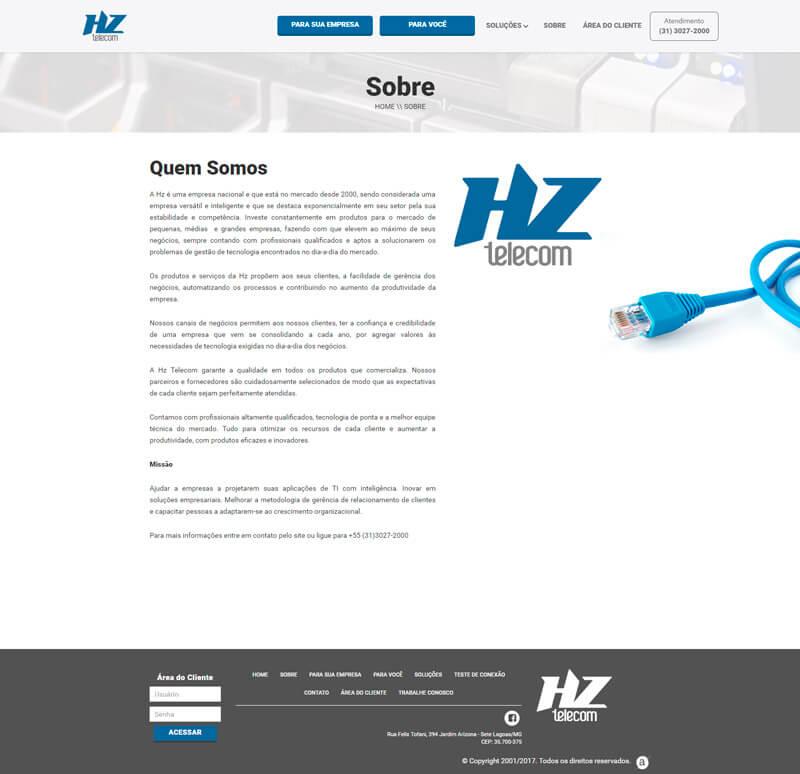 Sobre HZ Telecom