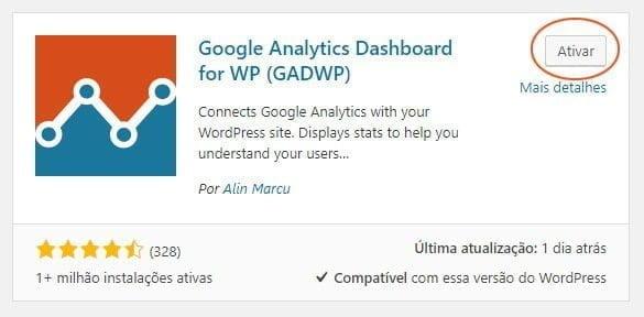 ativar plugin google analytics