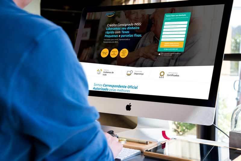 Mockup Facilita Crédito Brasil - Marketing Digital e Inbound Marketing em BH
