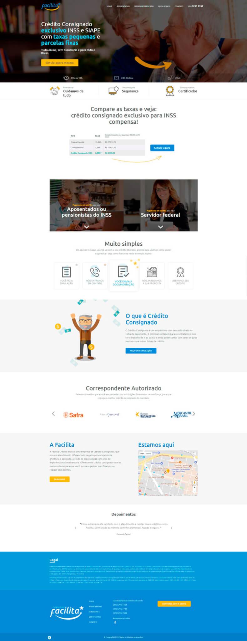 Screenshot Facilita Crédito Brasil