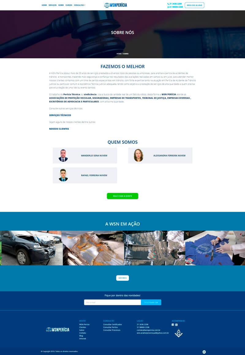 Screenshot site WSN Pericia