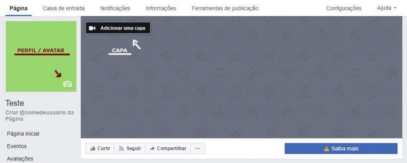 Personalizar avatar e capa Facebook