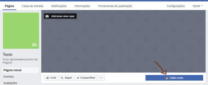 Botão CTA Facebook
