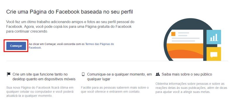 Como tornar perfil em página Facebook