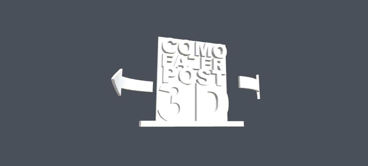 Post 3D no Facebook com erro