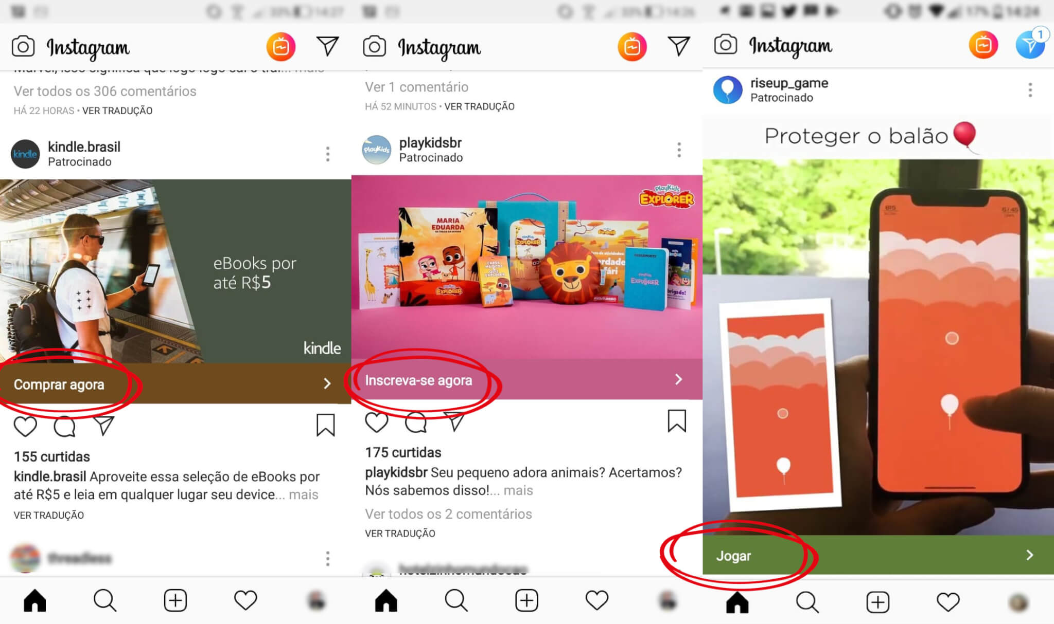 Anúncios Instagram Feed