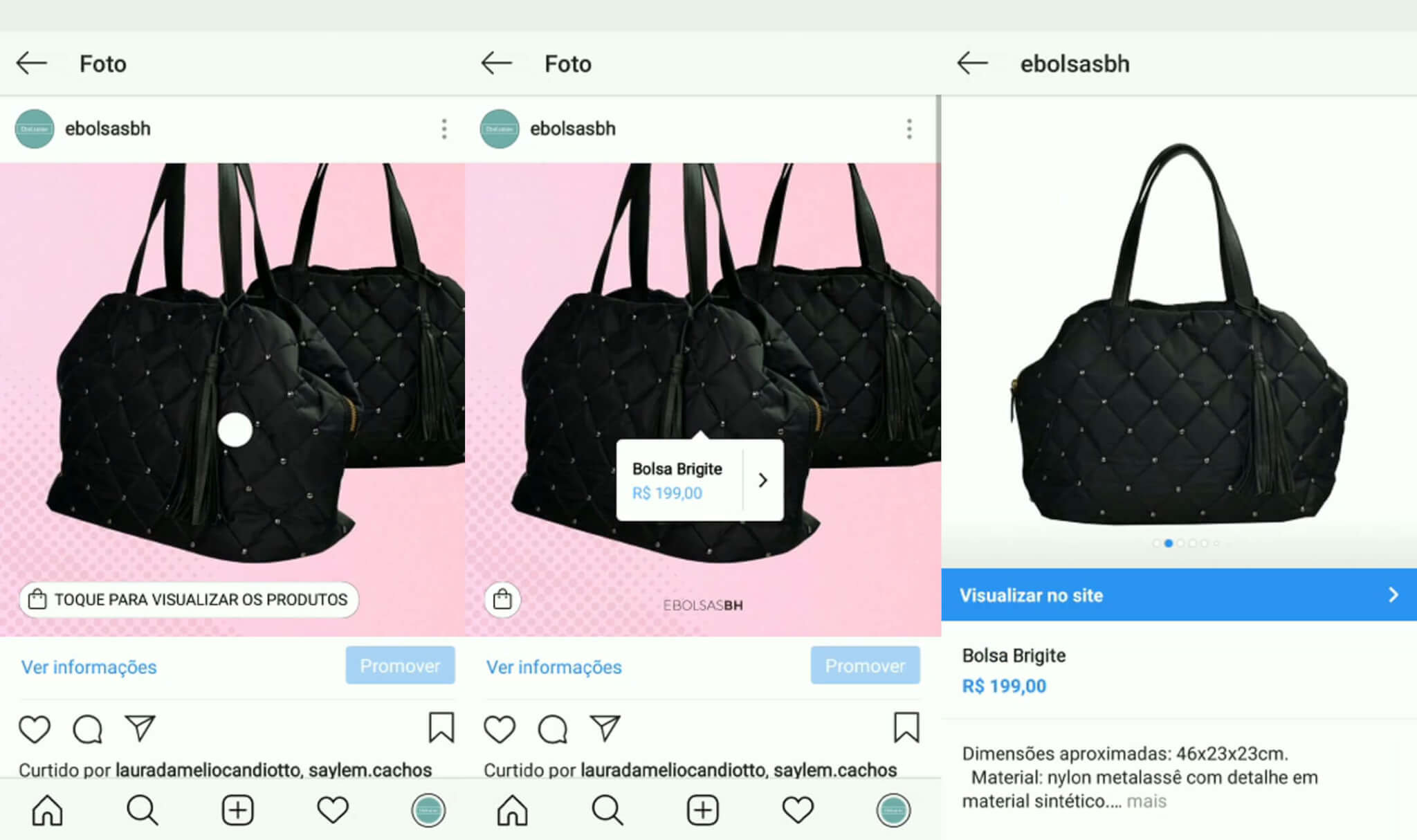 Catálogo de Produtos Instagram