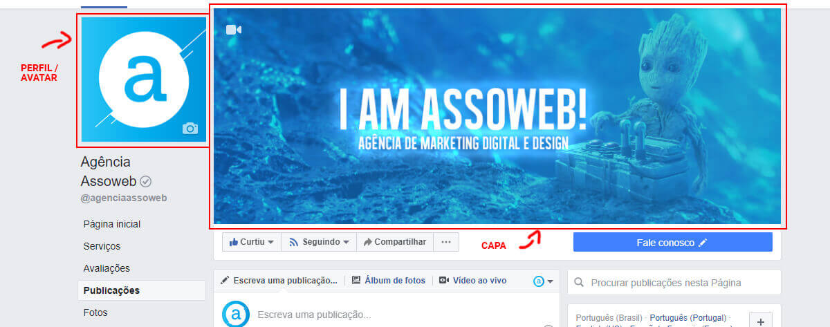 Personalizar avatar perfil capa facebook