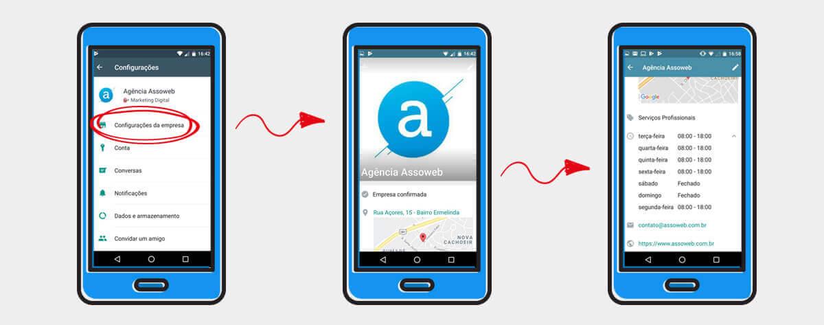 whatsapp business personalizando as informações da empresa