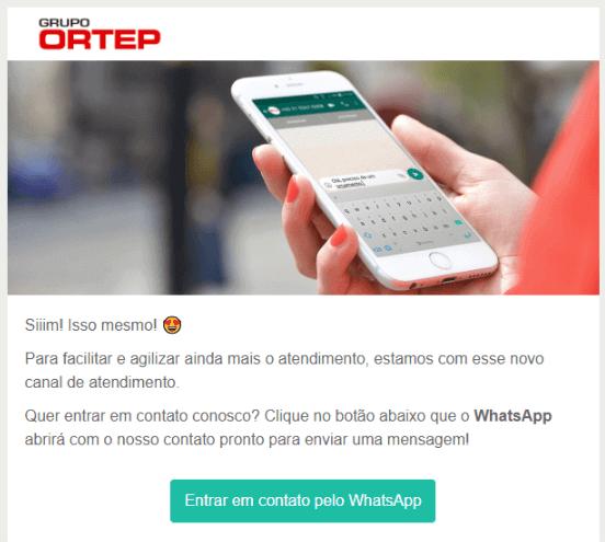 botão para chama de ação whatsapp
