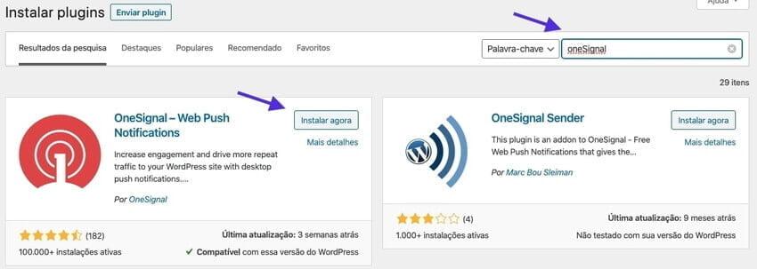 Instalando o Plugin OneSignal